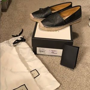 Black Gucci Espadrilles- Size 7.5